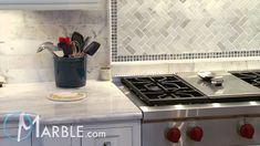 Classic White Quartzite Kitchen Countertops III | Marble.com - YouTube