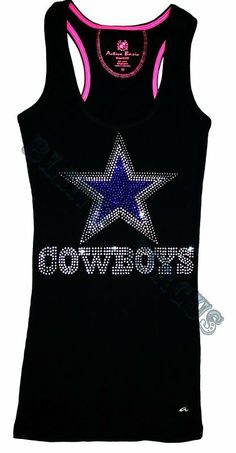 Women's Bling Sparkle Dallas Cowboys Tank Top  or Tee