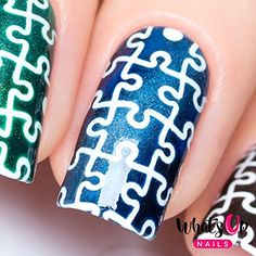 Whats Up Nails  Puzzles Nail Stencils Stickers Vinyls for Nail Art Design 1 Sheet 12 Stencils ** Click image to review more details.