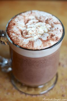 The most delicious homemade hot chocolate. It's just too easy to make! Slow Cooker Hot Chocolate #delicious #realfood