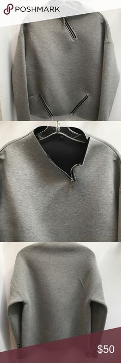 "Whitney Eve Zipper Sweatshirt All zippers work  95% polyester and 5% spandex  length is 23""  under the arms across is 20"". Perfect condition Whitney Eve Tops Sweatshirts & Hoodies"