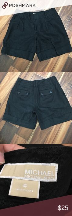 Michael Kors linen shorts Like new condition. No tears or stains MICHAEL Michael Kors Shorts