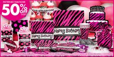 My 30th Bday Theme--May 2012   Oh So Fabulous Party Zebra Supplies - Party City