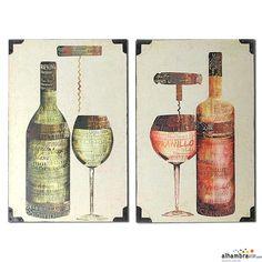 Set 2 cuadros vino