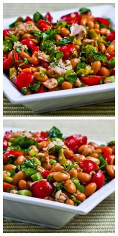 Spicy Pinto Bean and Tuna Salad with Peperoncini, Tomatoes, and ...