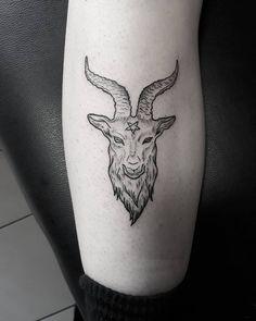 101 Awesome Baphomet Tattoo Designs You Need To See! Pagan Tattoo, Demon Tattoo, Wiccan Tattoos, Dark Tattoo, Celtic Tattoos, Indian Tattoos, Female Tattoos, Samurai Tattoo, Satanic Tattoos
