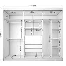 Resultado de imagen para medidas guarda roupa 5 portas