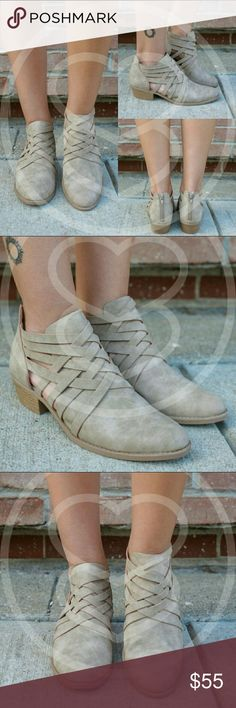 Braided Back Zipper Booties The go-to booties for this Fall. Limited supplies. Fits true to size. ● Box not included ● Shoes Ankle Boots & Booties
