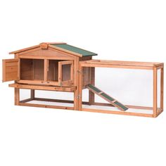 Wooden Rabbit Chicken Coop Poultry Cage Material: Fir wood Overall dimensions: x x (L x W x H) Wooden door size: x (L x W) Iron mesh door size: x (L x W) Tray size: x (L x W) Product weight: 30 lbs Material: Chinese fir Product weight: lbs Rabbit Cages, House Rabbit, Hen House, Portable Chicken Coop, Chicken Coop Plans, Chicken Coops, Outdoor Rabbit Hutch, Poultry Cage, Small Animal Cage