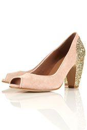 JAZZHANDS Glitter Peep Shoes