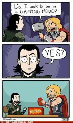 (Gif) thor Loki the avengers marvel do I look to be in a gaming mood Ms Marvel, Wanda Marvel, Marvel Funny, Marvel Memes, Marvel Comics, Avengers Memes, Loki Funny, Avengers Imagines, The Avengers