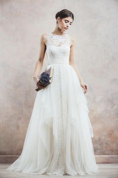divine atelier bridal 2014 sleeveless ball gown wedding dress anisia -- Top 30 Most Popular Wedding Dresses on Wedding Inspirasi in 2014 Ceremony Dresses, Wedding Dresses 2014, Wedding Attire, Wedding Gowns, Wedding Robe, Lace Wedding, Wedding Ceremony, Grecian Wedding, Modest Wedding
