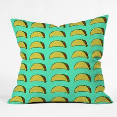 Leah Flores Taco Party Throw Pillow | DENY Designs Home Accessories