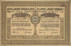 """Sklárny a raffinerie Josef Inwald akc. spol. (Glasfabriken und Raffinerien Josef Inwald AG.). Akcie na 25x 200 Kč (5 000 Kč). Praha, 1924. Továrny: Teplice (""""Rudolfshütte""""), Poděbrady (""""Elsahütte""""), Německý Šicendorf - Polná (Střelecká a od roku 1948 sloučeno s Dobronínem), Zlíchov u Prahy (roku 1935 výroba přenesena do Teplic a závod prodán), Velké Březno nad Labem (roku 1916 zrušeno), Floridsdorf u Vídně."""