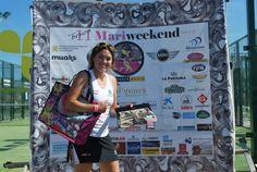 Una de las ganadoras del sorteo de amarillolimon en el Torneo de pádel Mariweekend