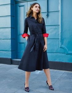 Roseland Shirt Dress Day Dresses at Boden Women's Dresses, Dress Outfits, Dresses For Work, Summer Dresses, Shirtdress Outfit, Latest Fashion Dresses, Cotton Shirt Dress, Frack, Ethical Clothing