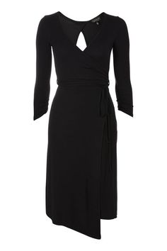 Belted Wrap Midi Dress