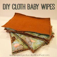 DIY Cloth Baby Wipes via www.myveryeducatedmother.com #DIY #Baby