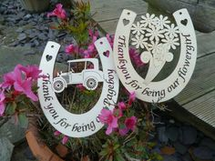 Wedding horseshoes for Pageboy and Flowergirl