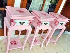 Shabby chic Console from Wooden with Decoupage