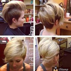"""Love this ""multiple personality"" pixie/ undercut... from @dillahajhair #pixie #undercut #behindthechair"""