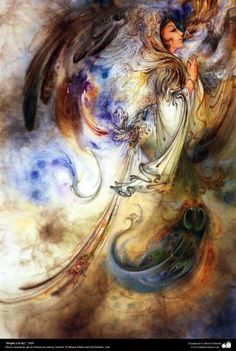 """<3<3 """"Praise to Light"""" 2004<3<3 - Persian painting (Miniature) - by Prof. M. Farshchian. 