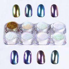 Hot Best Deal 8 Color Nail Glitter Powder Shinning Nail Mirror Powder Makeup Art DIY Pigment Beauty Girl Nov.15