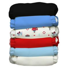 Charlie Banana Multi Reusable one size Diaper 6pk - Ahoy... I seriously love these! I wish I would have started using cloth diapers sooner!