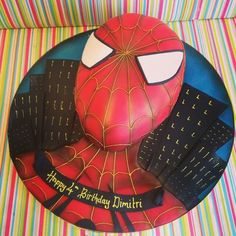 Spider Man Cake with Amazing cake board! Gotta try this!