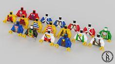 https://flic.kr/p/DgUCnq   Classic LEGO Pirates Torsos   Classic Pirate torsos I helped to make for MecaBricks.