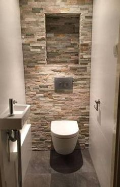Space Saving Toilet Design for Small Bathroom Space Saving Toilet, Small Toilet Room, Bathroom Design Small, Bathroom Interior Design, Bad Styling, Diy Bathroom Remodel, Bathroom Ideas, Bathroom Mat, Toilet Design
