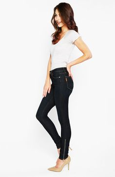 Paige 'Hoxton' Ankle Zip Skinny Jeans (Stream) available at #Nordstrom