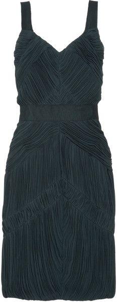 b9b44c25e1b3 BURBERRYPleated Chiffon Dress - Lyst Burberry Women
