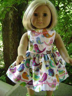 18 Inch Doll Dress for American Girl Retro Owls by gofancynancy, $24.99