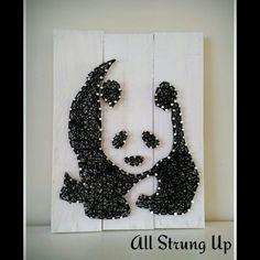 Panda string Art All Strung Up