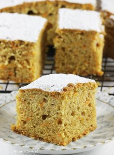 Ciasto marchewkowe, 1 Krispie Treats, Rice Krispies, Vanilla Cake, Banana Bread, Baking, Food, Places, Bakken, Essen