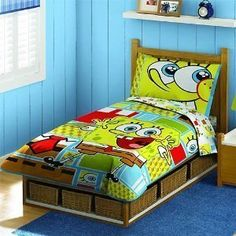 Spongebob Squarepants Toddler Bedding Set   Comforter Bed Set     Product  Description: Send Your Little One To Dreamland In Comfort With This  SpongeBob ...