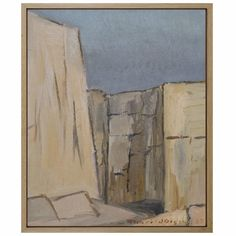 Oil on Canvas by THORILD OLSSON, 1957 Canvas Signs, Oil Painting On Canvas, Solid Oak, Modern Art, Artwork, Beautiful, House, Work Of Art, Auguste Rodin Artwork