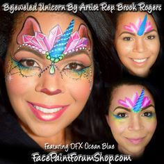 Face Painting Unicorn, Girl Face Painting, Face Painting Tips, Unicorn Face, Face Painting Designs, Face Paintings, Body Painting, Unicorn And Fairies, Painted Pony