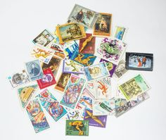 Vintage Postage Stamps Mixed Eastern Bloc and Cuba by SovietEra