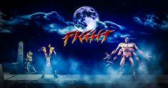 Composição, tratamento de imagem e efeitos - Releitura de cenário do jogo Mortal Kombat - by Roberto Castro - Photoshop