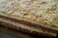 prášek do pečiva 200 mlolej… Albanian Recipes, Croatian Recipes, Baking Recipes, Cookie Recipes, Dessert Recipes, Desserts, Kolaci I Torte, Pistachio Cake, Custard Cake