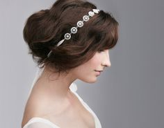 Lace Band Crystal Hairpiece: Featured Product Image