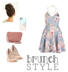 """Rose gold"" by swinterb ❤ liked on Polyvore featuring Saks Fifth Avenue, Dune, TOMS and Casetify"