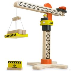 Miniature Wooden Tower Crane by WonderWorld