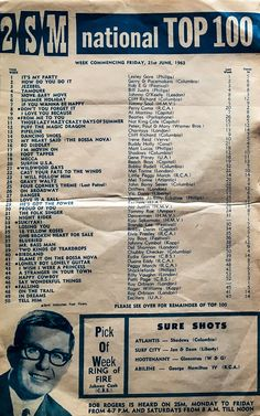 2SM National Top 100, 21 June 1963 (1-50) Top Music Hits, 70s Music, Music Mood, Top Hit Songs, Beat Songs, Love Songs, Music Albums, Music Songs, Music Videos
