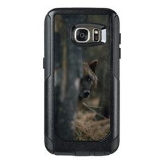 A Gray Wolf (Canis Lupus) In the Woods OtterBox Samsung Galaxy S7 Case - wood gifts ideas diy cyo natural