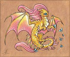 fluttershy_dragon_by_alviaalcedo