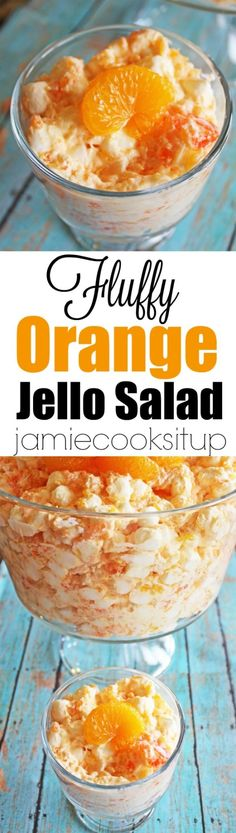 Fluffy Orange Jello Salad from Jamie Cooks It Up by gay