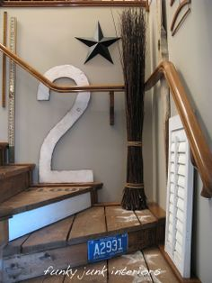 How to make a giant number or letter | Funky Junk InteriorsFunky Junk Interiors